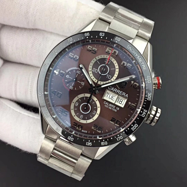 Replica Tag Heuer Carrera Calibre 1887 Brown